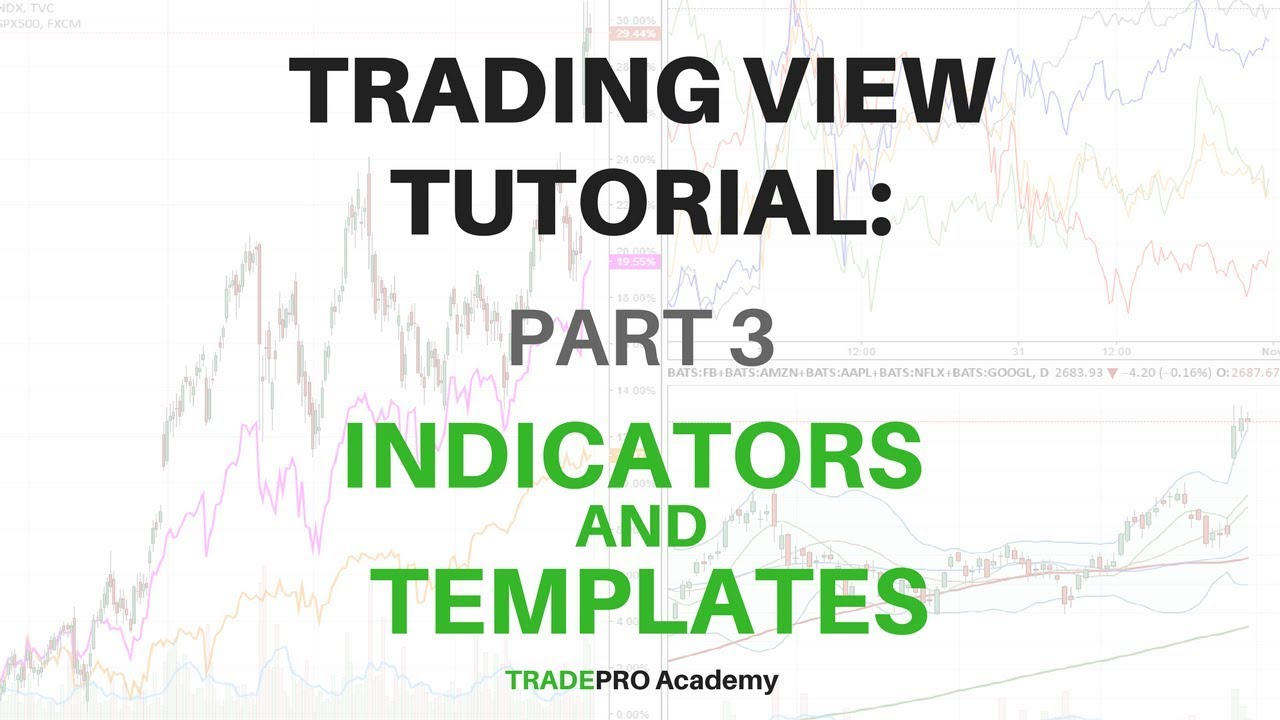 TradingView Tutorial Part 3 - How to Use Indicators and Templates