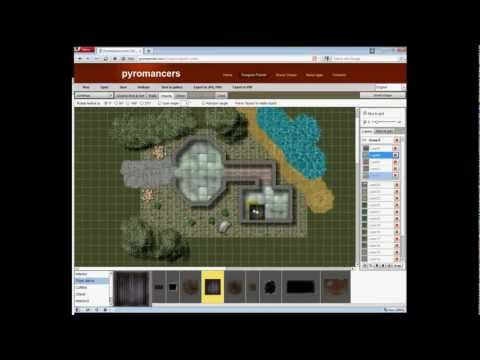 Dungeon Painter Online - flash-based encounter map design tool | pyromancers.com