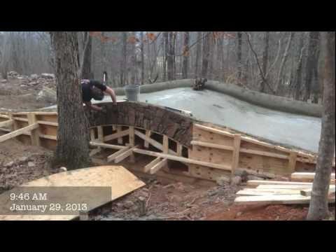 J&D farms builds a stone bridge.mov