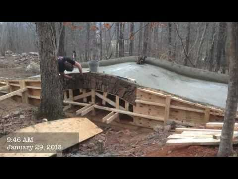 J D Farms Builds A Stone Bridge Mov