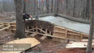 J&d Farms Builds A Stone Bridge.mov