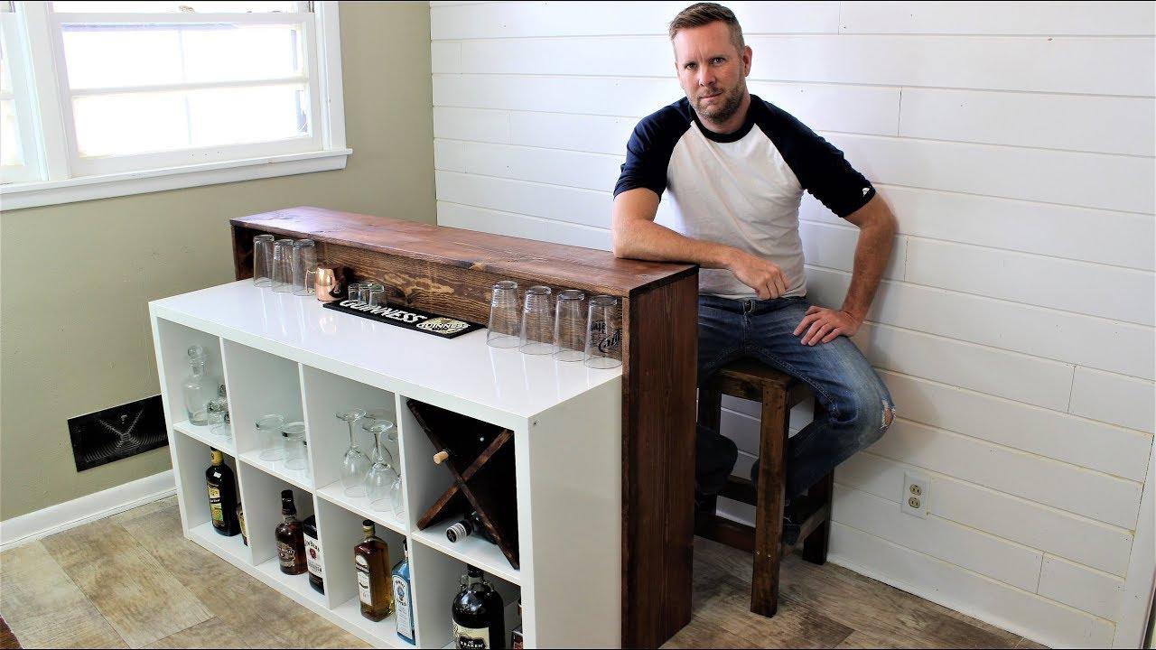 Ikea Hack The Easy Diy Bar Youtube