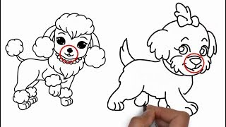How To Draw A Dog Nose For Beginners - Video Dog Drawing Tutorial Part 9