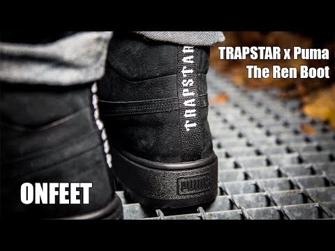"""Trapstar x Puma The Ren Boot """"Triple Black"""" Onfeet Review 