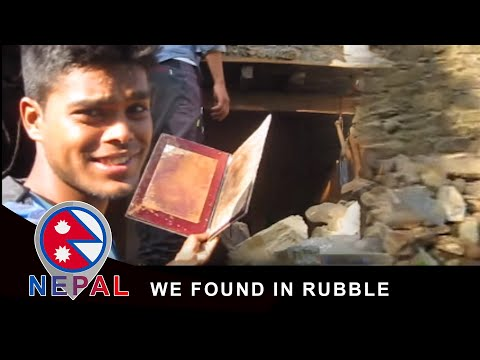Honor of Climbing Mt. Everest in 1988 We Found in Rubble (Nepal Earthquake)