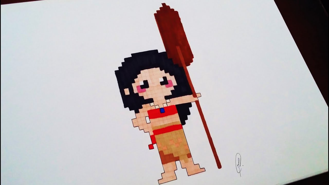 Moana Drawing Pixel Art