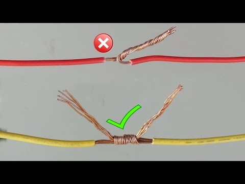 Awesome Idea! How To Twist Electric Wire Together/ Properly Joint Electrical Wire   Part 1