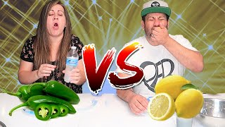 SPICY FOOD vs SOUR FOOD CHALLENGE | Can we handle tasting spicy and sour foods?