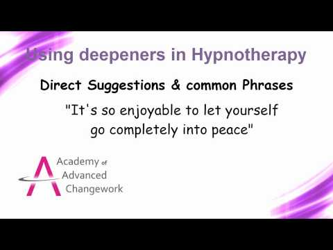 Deepening trance during hypnotherapy