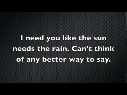 I need you Saving Abel Lyrics
