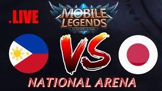 Philippines vs Japan National Arena & Custom Games   Mobile legends Season 9