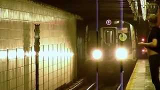 R160A E and F trains at 57th Street