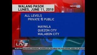 NTVL: Walang Pasok Lunes, June 11, 2018