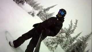 Big White Kelowna Snowboard Full Gem Run ContourHD