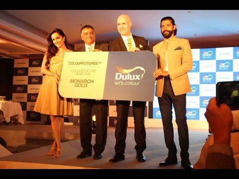 Farhan Akhtar, Shraddha Kapoor  Launch  Monarch Gold Dulux Colour