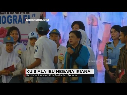 Kuis ala Ibu Negara Iriana Jokowi