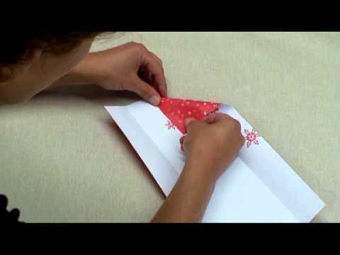 Pochette couverts youtube - Pliage de serviette porte couvert ...