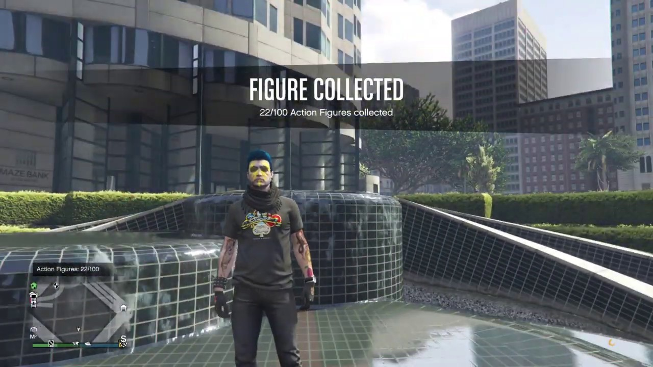 Gta Online Action Figure Location 22 Of 100 Maze Bank Easter Egg Fountain Youtube