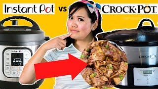 INSTANT POT vs CROCK POT TASTE TEST - Pot Roast!