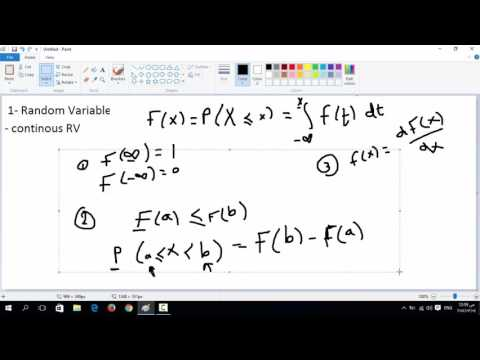 5- Continuous Random Variable : Cumulative Distribution function ( Cdf )