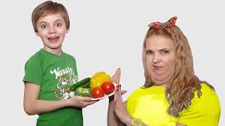 Nikita teaches mom to eat and exercise properly | 동요와 아이 노래 | 어린이 교육