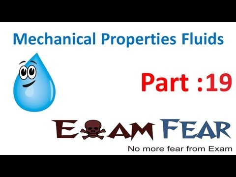 Physics Mechanical properties of Fluids mechanics part 19 (Torricelli  law) CBSE class 11