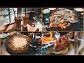 데이트 브이로그 천호 쭈꾸미골목 맛집탐방 광나루 한강공원 노을🧡 date vlog. - YouTube