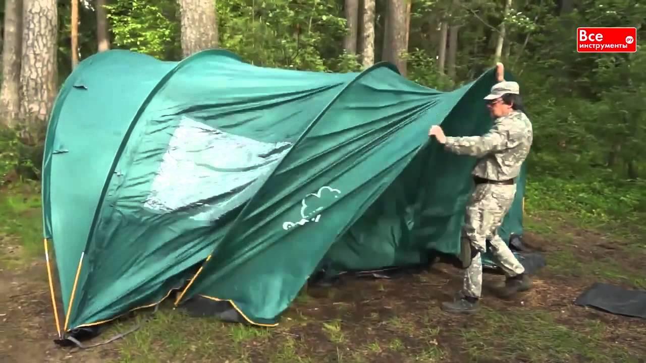 Палатка Greenell «Вэрти 4» - YouTube