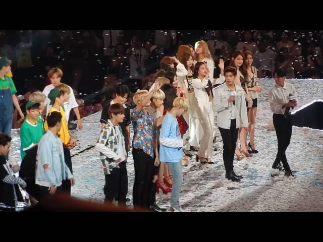 160731 All Artists ENDING BTS SNSD-TTS Twice Monsta X Astro Davichi Eric Nam KCON 2016 LA Day 2