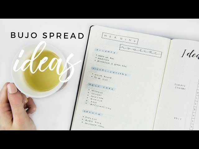 4 Bullet Journal Spread Ideas to Get Your Life Together