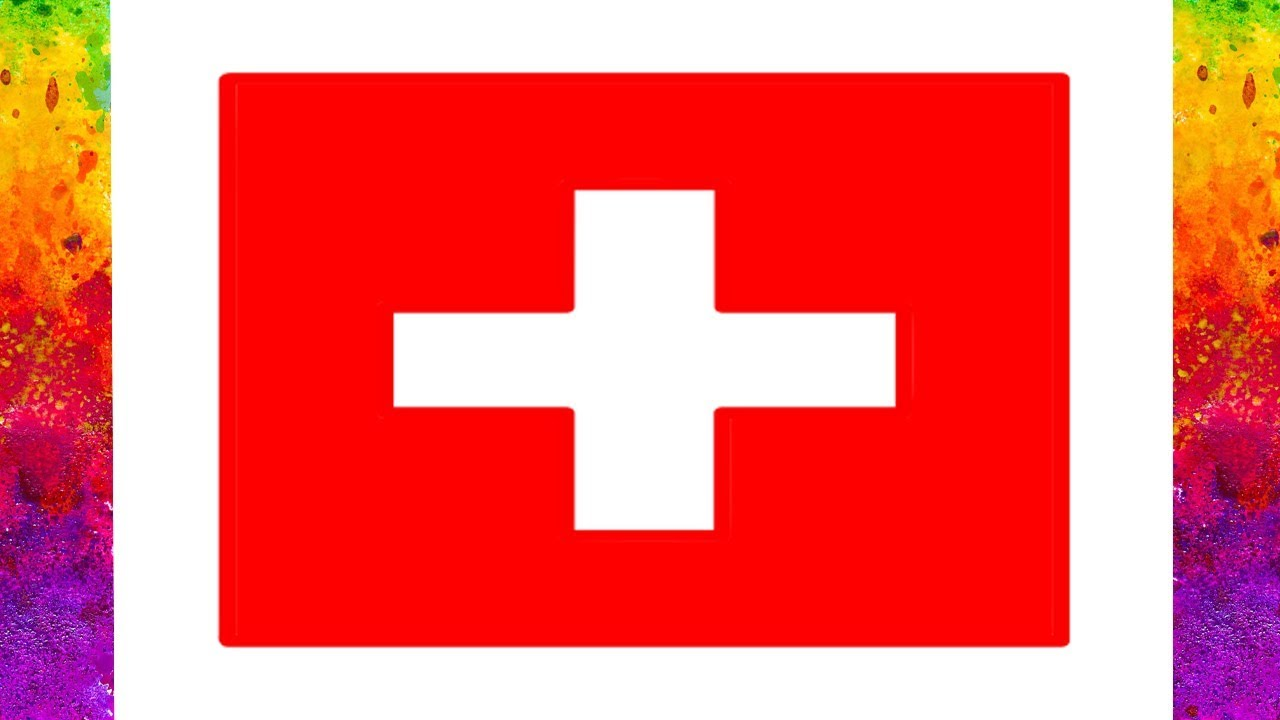 Switzerland Flag Draw And Coloring How To Maxresdefault WatchvN8HZCuGOQtA Pages For Kids
