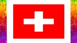 Switzerland Flag Draw and Coloring | How to Draw Switzerland Flag | Drawing Swiss Flag for kids