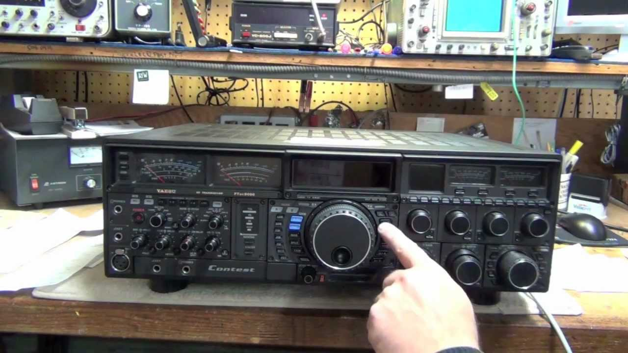Yaesu FT-9000 CPU, Memory, and Menu reset procedures - YouTube