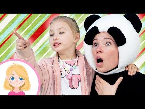 Играем с медведем в парке - Маленькая Вера и друг Панда - Детские развлечения
