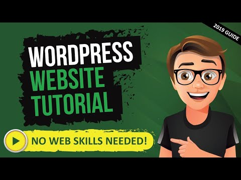 How To Make A Website With WordPress - WordPress Tutorial For Beginners [2019] thumbnail