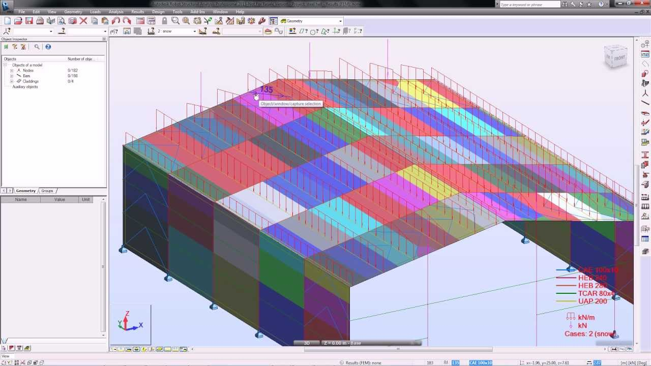 Claddings in Autodesk Robot Structural Analysis