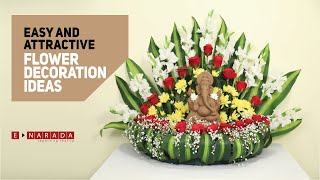 Very easy and attractive Flower Decoration Ideas for Pooja | DIY | Home Decor