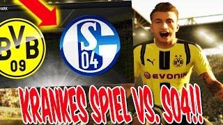 FIFA 17: KRANKES SPIEL BVB vs. SCHALKE! - KARRIEREMODUS GAMEPLAY DORTMUND (DEUTSCH) #1
