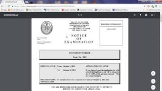 Sanitation Exam 5001 DSNY