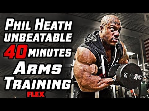 Phil Heath's Unbeatable 40-Minutes  Arms Training For Mass