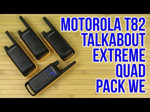 Распаковка Motorola Talkabout T82 Extreme Quad Pack WE B8p00811ydemaq