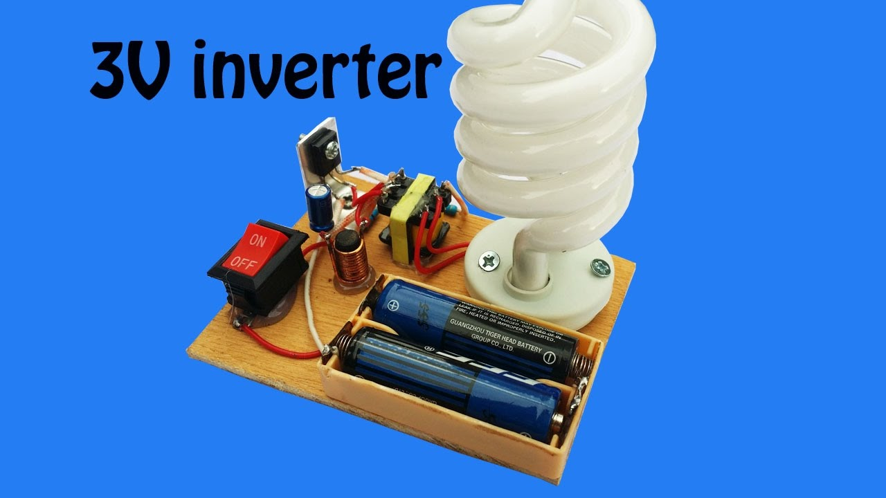 How To Make Mini Inverter 3v Circuit For Fluorescent Lamp At Home A Simplest Compact 1 Watt Led Driver 220v 110v