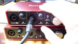 focusrite scarlett 2nd gen 2i2 vs 1st gen 2i4 comparison review