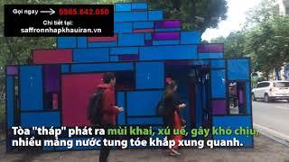 Ngao ngán cảnh phóng uế vào tác phẩm nghệ thuật giữa phố đi bộ Hà Nội