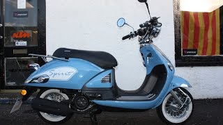 Sinnis Spirit Scooter   Blue 125cc
