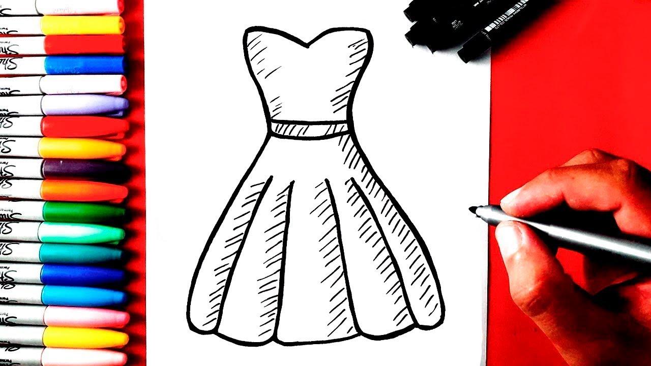 Como Desenhar Um Vestido
