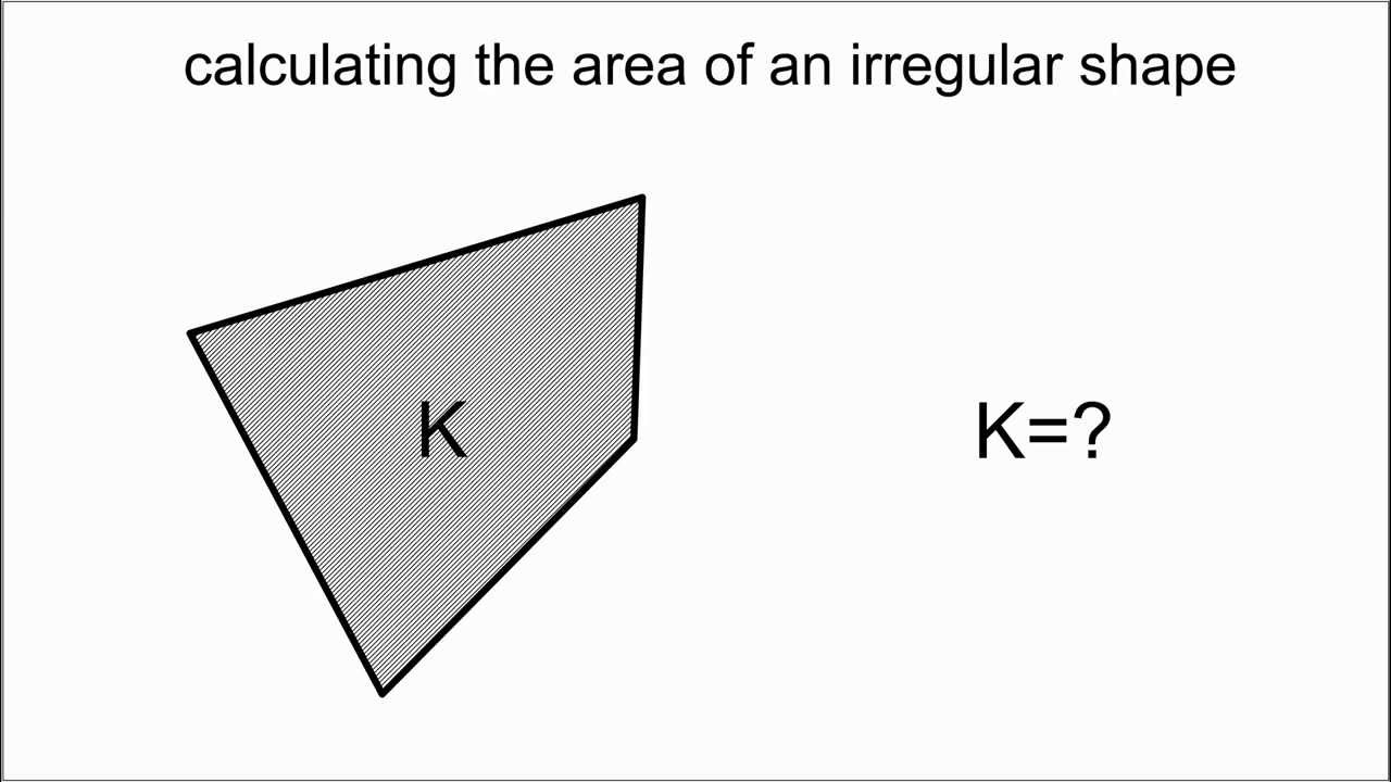 the area of an irregular shape