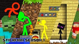 Stickman in Minecraft: Season 1 - Minecraft Animation