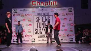 Askhat vs Artur   Popping 1/4 Final   Spring Funky Summit 2017