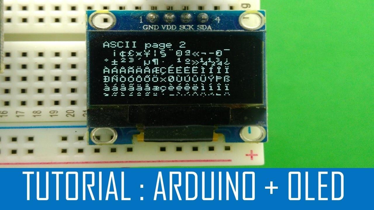Tutorial arduino oled display ssd  youtube